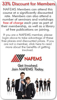33% Discount for Members - NAFEMS Members can attend this course at a significantly discounted rate. Members can also attend a number of seminars and workshops free of charge each year as part of their membership, as well as a library of free publications on joining. If you are a NAFEMS member, please login above to take advantage of these free places and discounted prices. If you are not a member, click here to read more about the benefits of getting involved. Get Involved. Join NAFEMS Today.