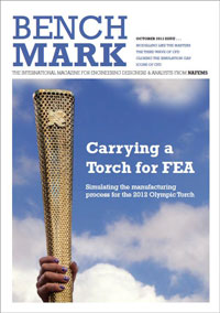 Carrying a Torch for FEA - Simulating the manufacturing process for the 2012 Olympic Torch