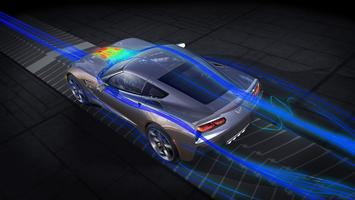 Chevrolet in wind tunnel simulation