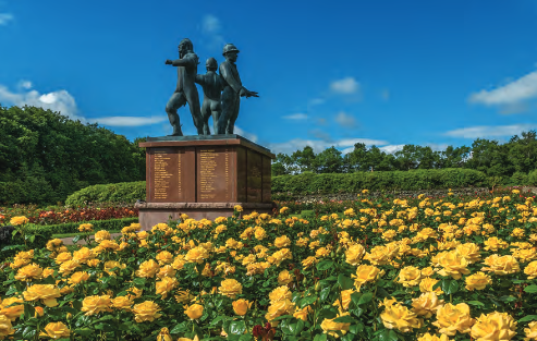 Piper Alpha Memorial Garden at Hazlehead Park, Aberdeen, Scotland