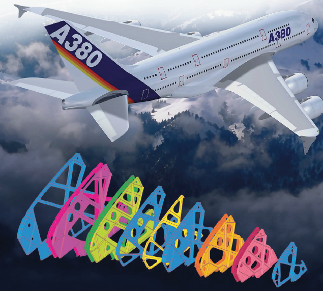 Simulation of the Airbus A380 wing ribs
