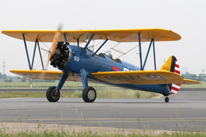 Stearman biplane from 1942