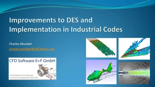 NAFEMS - Improvement to DES and implementation in Industrial Codes