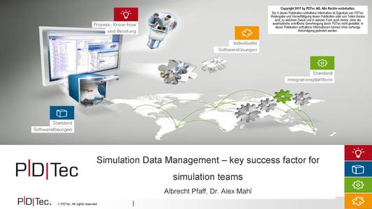 NAFEMS - SDM a primary success factor for the simulation