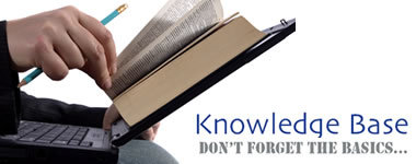 Knowledge Base -Don't forget the basics